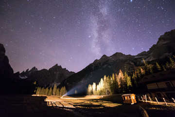 milky way in val Fiscalina