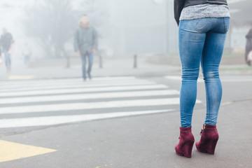 Young woman waiting his boyfriend