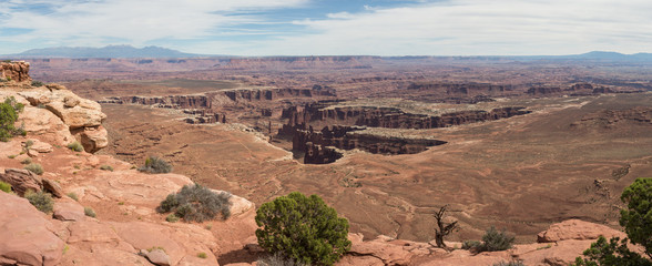 Canyonlands Nationalpark, Island in the sky, Needles, Mesa, Rim, Utah, Moab, Tag, USA, Sommer