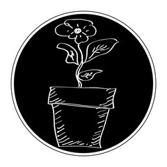 Simple doodle of a plant