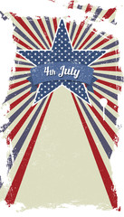 Vector retro card for Independence Day and other events