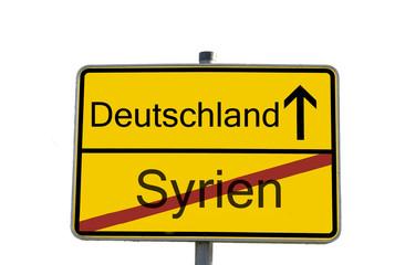 ortssschild deutschland syrien