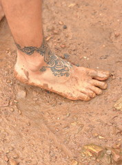 tatoo on foot-laos
