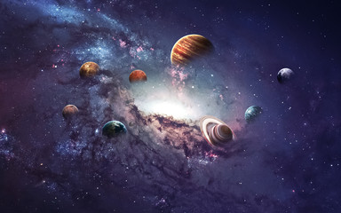 Wall Mural - High resolution images presents creating planets of the solar system. This image elements furnished by NASA