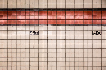 New York City subway wall tiles for backdrop