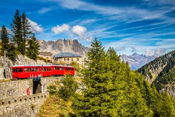 Train In Montenvers Mer de Glace-Chamonix,France