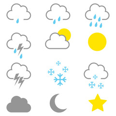 Simple Graphic Of Weather Icons