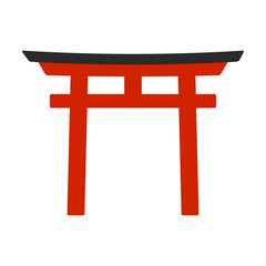 Torii - symbol of Shintoism flat icon for apps and websites