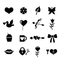 Valentines day set icons