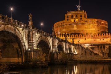 Fototapete - Rome, Italy: Hadrian's Mausoleum or Castle of  Holy Angel
