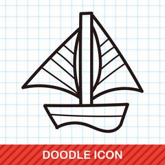 boat color doodle