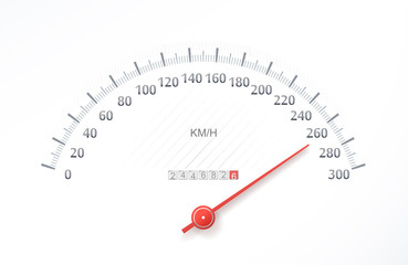 High speed on sports speedometer