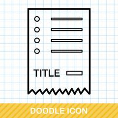 check list doodle