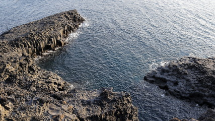 Jusangjeollidae Natural Rock Formation in South Korea Jeju Island