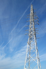 steel tower in the cloudy blue sky #2