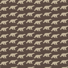 Vector seamless pattern with bear on blue background. wallpaper
