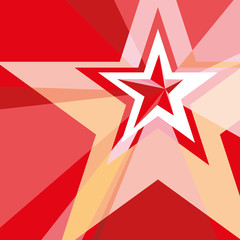 Red Star with the verge on the abstract background