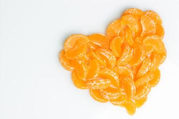 orange heart of orange slices