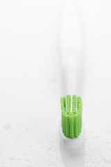 Toothbrush close-up on white