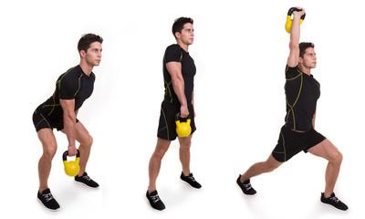 Kettlebell, Snatch Split, exercices