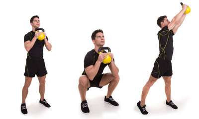 Kettlebell, Squat and Twist, exercices