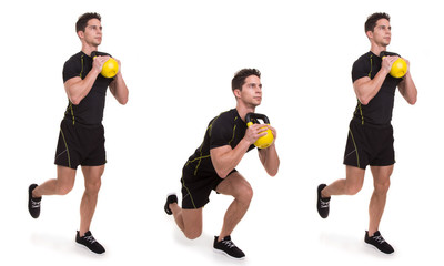 Kettlebell, Uni Front Squat, exercices