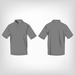 grey polo shirt isolated vector