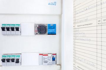 Sicherungskasten Elektrizität