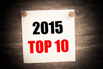 2015 Top 10 concept