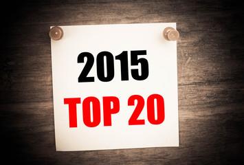 2015 Top 20 concept