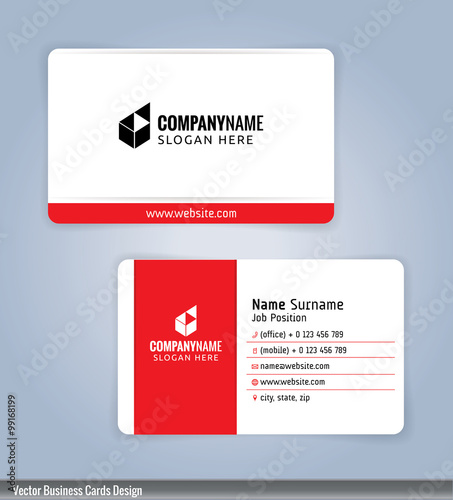 White and red modern business card template illustration vector 10 white and red modern business card template illustration vector 10 reheart Images