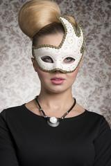 Mysterious masquerade woman