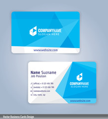 White and Blue modern business card template, Illustration Vector 10