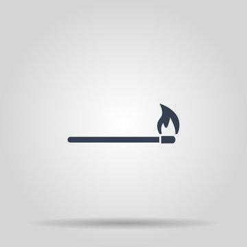 match icon. Flat