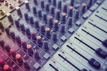 Music Studio Mixer Control