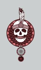 Dreamcatcher and skull