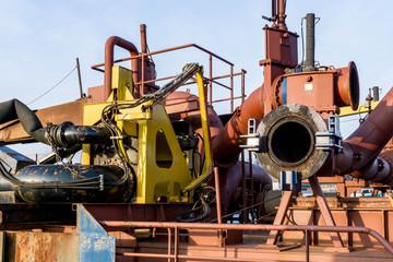 Pumpe auf einem Schiff