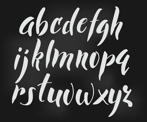 Brush style vector alphabet
