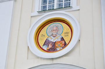 Mosaic of St. Nicholas Monastery in Pochaev
