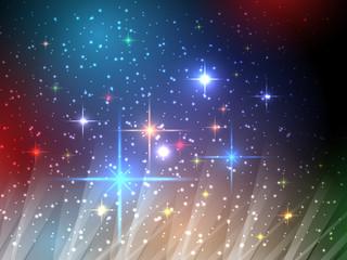 Universe night sky vector