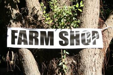 farm shop sign, canvas banner by public shop