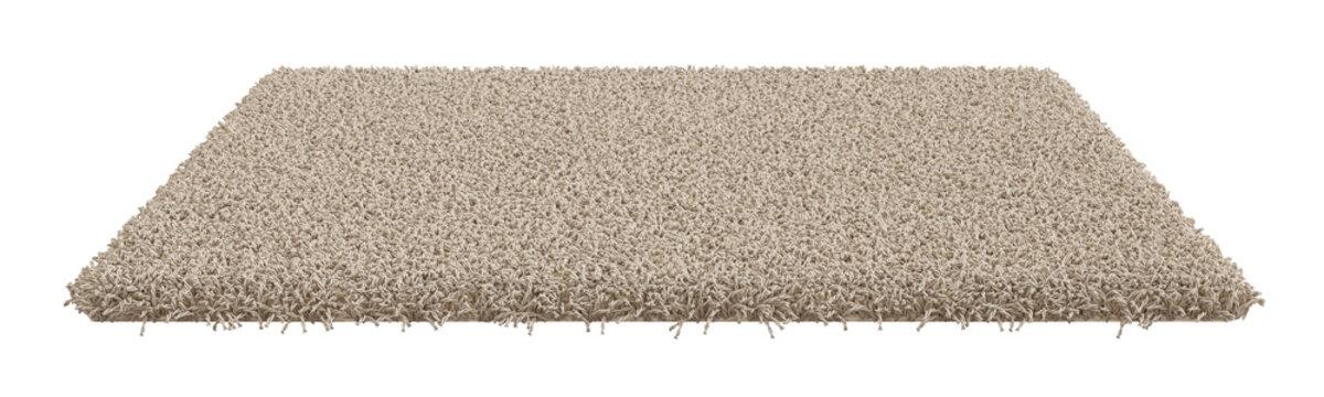 Rectangle carpet isolated on white background