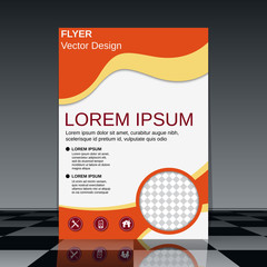 Professional flyer vector design