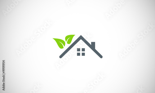 Eco house garden logo stock image and royalty free Homes and gardens logo