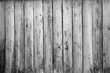 textured background of old boards. Black and white photography