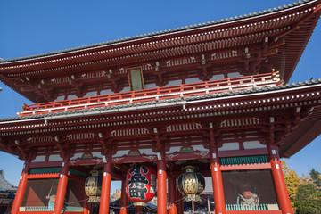 Poster Tokyo Beautiful Architecture in Sensoji Temple around Asakusa area at