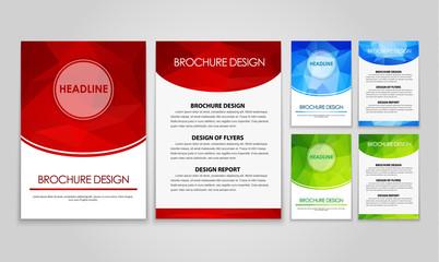 Design flyers and brochures polygonal