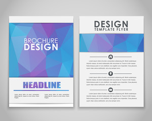 Design flyers and brochures polygonal