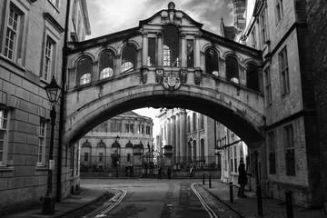 Bridge of Sighs in Oxford, UK