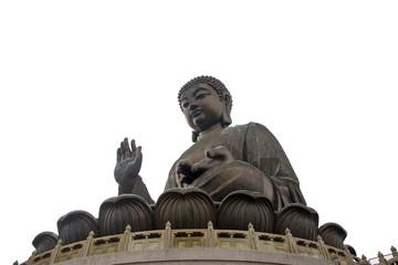 Giant Buddha at Po Lin temple. Hong Kong
